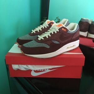 Men's Nike Air Max 1 Houndstooth Bronze Eclipse